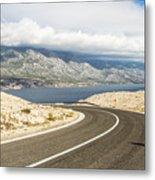 Winding Road In Croatia Metal Print