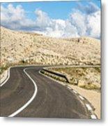 Winding Road On The Pag Island In Croatia Metal Print