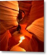 Winding Through Antelope Canyon Metal Print