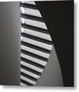 Winding Wall Metal Print