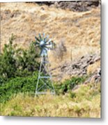 Windmill Aerator For Ponds And Lakes Metal Print