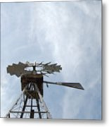 Windmill And Sky Metal Print
