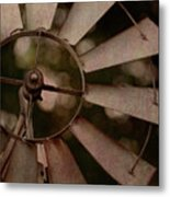 Windmill At Dusk Metal Print