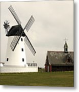 Windmill At Lytham St. Annes - England Metal Print