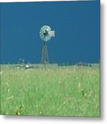 Windmill Before Storm Metal Print