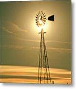Windmill In Colorado Metal Print
