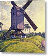 Windmill In Flanders Metal Print