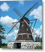 Windmill In Fleninge,sweden Metal Print
