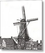 Windmill In Meppel, Holland 2016 Metal Print