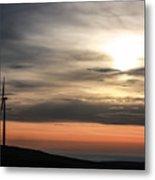 Windmill In Sunrise Metal Print