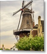 Windmill In The Clouds 2 Metal Print