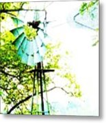 Windmill Of Kansas Metal Print