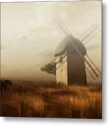 Windmill On A Slightly Misty Day Metal Print
