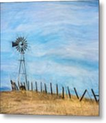 Windmill On The Hill Metal Print