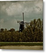 Windmill On The Rhine Metal Print