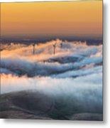 Windmills And Hills Metal Print