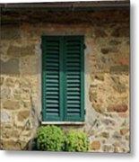 Window #3 - Cinque Terre Italy Metal Print