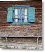 Window And Bench Metal Print by Yair Karelic