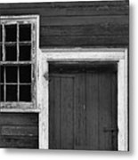 Window And Door Bw Metal Print