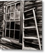 Window And Ladder Metal Print