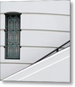 Window And Rail Metal Print