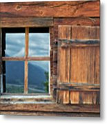 Window And Reflection Metal Print