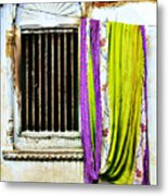 Window And Sari Metal Print