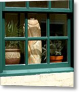 Window At Sanders Resturant Metal Print