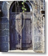 Window At Temple Grounds In India Metal Print