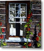 Window At Upper Canada Village Metal Print