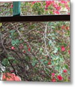 Window Bottle Metal Print