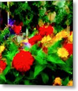 Window Box Of Flowers Metal Print