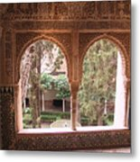 Window In La Alhambra Metal Print