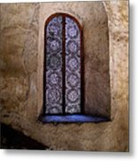 Window In Lace Metal Print by Mexicolors Art Photography