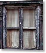 Window In Old Building Metal Print