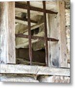 Window In The Amana Farmer's Market Barn Amana Ia Metal Print