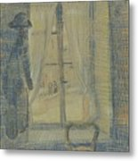 Window In The Bataille Restaurant Paris, February - March 1887 Vincent Van Gogh 1853 - 1890 Metal Print