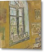 Window In The Studio Saint-remy-de-provence, September - October 1889 Vincent Van Gogh 1853 - 1890 Metal Print