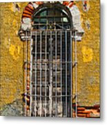 Window In The Yellow Wall By Darian Day Metal Print