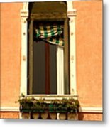 Window In Venice Metal Print