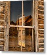 Window Into The Montana Past Metal Print