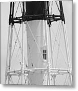 Window Lighthouse Metal Print