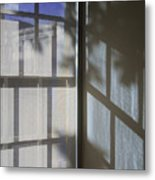 Window Lines Metal Print