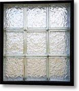 Window Of Glass Metal Print
