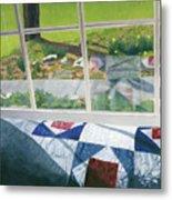 Window On Spring Metal Print
