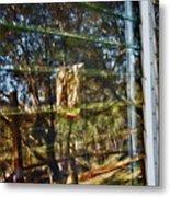 Window Reflection Metal Print