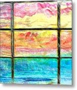 Window Scene Abstract Metal Print