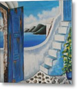 Window To Aegean Metal Print