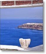 Window View To The Mediterranean Metal Print