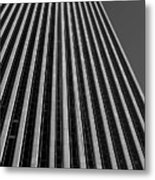 Window Washers View - Black And White Metal Print